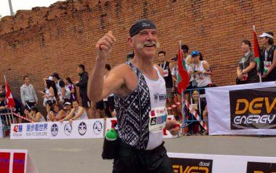 Hein onze marathonman in het nieuws.