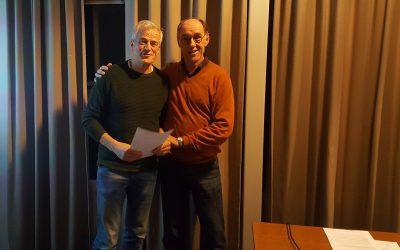 Frans van Grinsven erelid van Loopgroep Wijbosch
